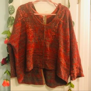 Free people Knit Wool Hoodie Poncho